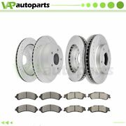 Brake Pads And Rotors Front Rear For Gmc Jimmy Chevrolet Blazer Drilled