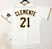 Roberto Clemente Authentic 52 2xl Pittsburgh Pirates Majestic Cool Base Jersey