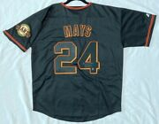 Majestic Xl Willie Mays San Francisco Giants Holo Authenticated Signed Jersey