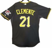 Roberto Clemente Authentic 48 Xl Pittsburgh Pirates Majestic Cool Base Jersey