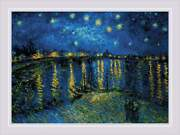 Counted Cross Stitch Kit Riolis - Starry Night Over The Rhone After Van Goghand039s