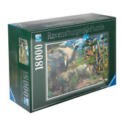New Ravensburger At The Waterhole Jigsaw Puzzle 18000pce