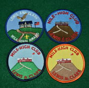 Boy Scout - Lot Of Four Mile-high Club Patches - Lewis And Clark Council