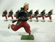 Britains Set 142 French Zouaves Charging Fixed Bayonets Vintage Lead Toy Soldier