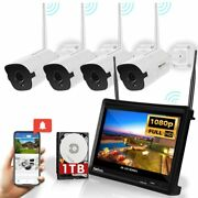 Wireless Security Camera System All-in-one 1080p 4 Channel 3.6mm Bullet Cameras