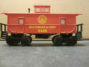 K-line 6136 Baltimore And Ohio Lighted Center Cupola Caboose
