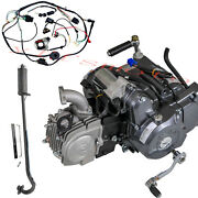 4 Up Lifan 125cc Motor Engine Xr50 Crf50f Xr 50 Crf70f Ct70 +wires+exhaust Pipe