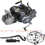 4up Semi Auto Lifan 125cc Motor Engine Xr50 Crf50 70 Ct70 Sdg Ssr +exhaust+wires