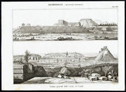 3 Antique Prints-archaeology-mexico-architecture-uxmal-nuova