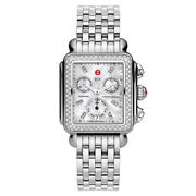Deco Stainless Steel White Mother Of Pearl Diamond Dial Watch Mww06p000099