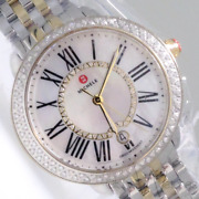 Serein Mid Two-tone 18k Gold Plated And Silver Diamond Watch Mww21b000032