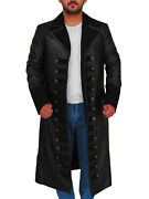 Once Upon A Time Captain Hook Killian Jones The Dark One Black Leather Coat