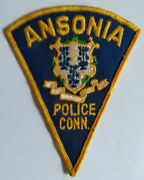 Ansonia Connecticut Police Patch - Old Style // Free Us Shipping