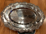 Vintage R Wallace And Sons Sterling Silver Bread Tray 531 Gr/ 18.73 Oz N372 14n