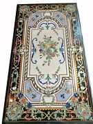 Black Marble Sofa Table Gemstone Inlaid Center Table From Cottage Handicrafts