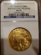 2007 50 1 Oz Gold American Buffalo Ngc Ms 70 Early Releases