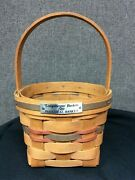Longaberger 1989 Inaugural Basket 1st In Series Signed