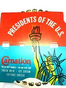 1963 Carnation Dairy-presidents Of The U.s. Educational Wheel-history-learn P