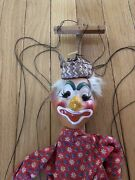 Vintage Mexican Clown Stringed Marionette Puppet Doll