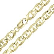 10k Yellow Gold Concave Mariner Chain Necklace 20 10mm 60 Grams