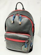 Coach 89948 West Backpack Color Block Retro Laptop Book Bag Leather Multi Nwt