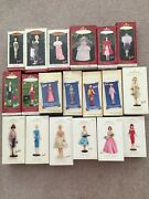 Complete Set Of Hallmark Barbie Through The Years Series Of 19 Ornaments Mib