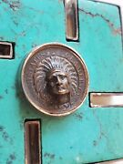 Beautiful Native American Swastika 1902 Indian Cent Repousse Push Out Coin