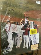 Mlb Boston Red Sox Multi Signed 2013 Ws Vertical 16x20 Photo