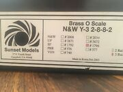 Sunset Models Sf 1796 Y-3 2-8-8-2 Brass O Scale Locomotive 3-rail One Of A Kind