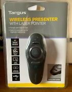 Targus Wireless Usb Presenter With Laser Pointer 50 Foot Range, New With Box