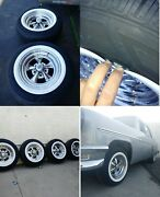 Fit For 14 Classic Cragar Wheels Portawall White Wall Inserts Four Pieces....