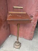1930s Antique Funeral Wedding Stand Lectern Podium Guest Registry Holland Brass