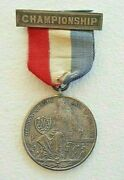 Antique Sterling Silver Allegheny Mountain Association Of A.a.u. Swimming Medal