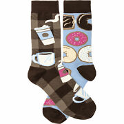 Primitives By Kathy Socks - Socks - Coffee And Donuts One Size Fits Most