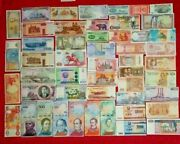 Unc Lot 51 Different Foreign Paper Money Real Banknotes World Currency