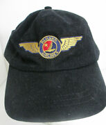Alaska Airlines Hat Wings Logo Strapback Unisex Embroidery By Headshots Cap