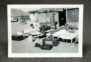 Antique Military Ww2 Tents Camp Outdoor Cots Beds Photograph Snapshot Picture