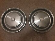 1974 1975 1976 Cadillac Deville 15 Hubcap Wheel Cover Set Of 2