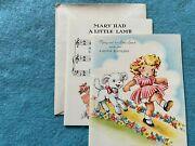 Very Rare Mary And Her Little Lamb Happy Birthday Vintage Unused Greeting Card