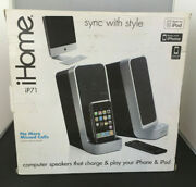 Ihome Ip71 Computer Stereo System With Dock For Iphone/ipod -silver