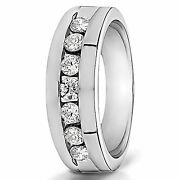 Solid 14k White Gold 0.30 Carat Pure Diamond Menand039s Engagement Ring Size 9 10 11