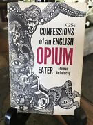 Confessions Of An English Opium-eater By De Quincey, Thomas Rare Booklet
