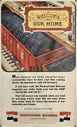 Original Vintage Poster Pennsylvania Railroad Welcome To Our Home Buy War Bonds