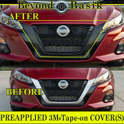 For 2019 2020 2021 Nissan Altima Gloss Black Grill Grille Cover Overlay