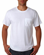 Jerzees Menand039s Adult Heavyweight Ribbed Crewneck Pocket T-shirt Pack10. 29mp
