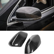 For 2014-19 Jeep Compass Carbon Fiber Look Rearview Side Mirror Caps Cover Trim