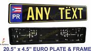 Euro Tag Bmw European License Plate Any Text Puerto Rico And Mounting Frame