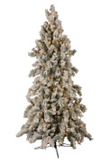12' Forevertree Slim Snowy Aspen Pine Easylite With Cone And Remote