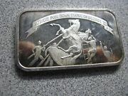Patriots Pull Down Statue Of George 111. 1 Ounce .999 Silver Art Bar- Neat