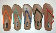 Dkny Madi Faux Leather Thong Flip-flops White Black Red Blue Black Green New